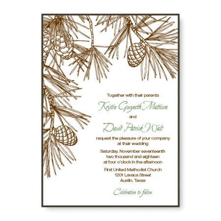Pine 2-Layer Wedding Invitations