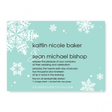 Falling Snow Wedding Invitations