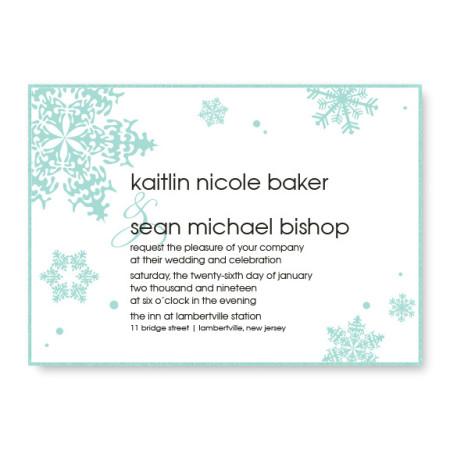 Falling Snow 2-Layer Wedding Invitations