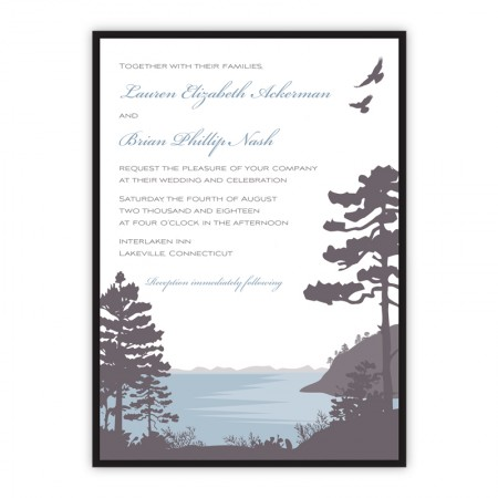 Lakeside Clutch Wedding Invitations