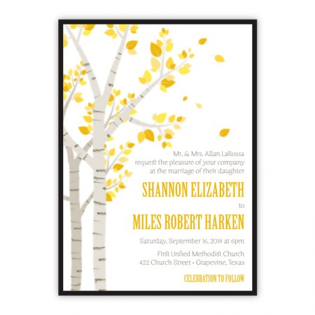Birch Clutch Wedding Invitations