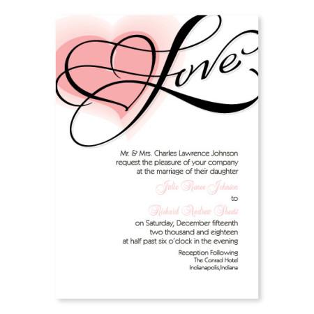 Heartfelt Love Wedding Invitations