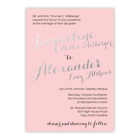 Darling Foil Wedding Invitations