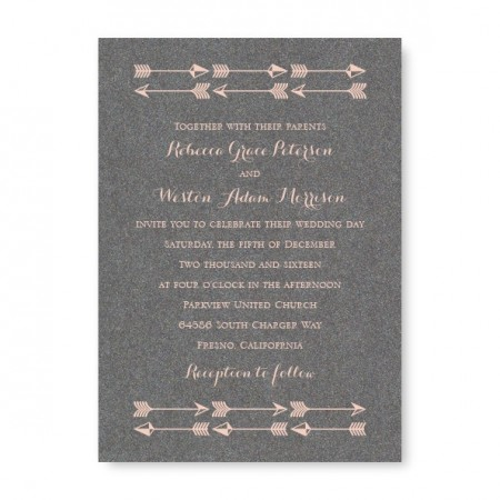 Forever Arrow Wedding Invitations
