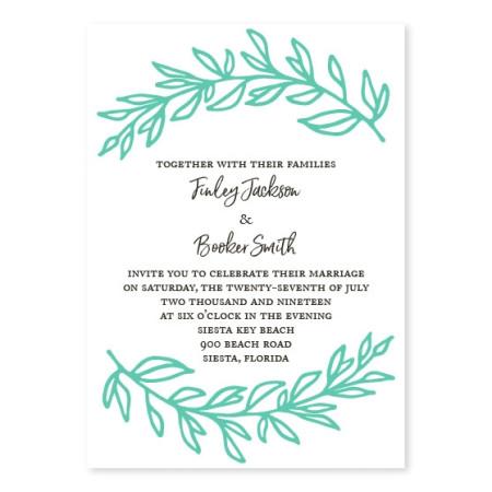 Lush Leaves Wedding Invitations