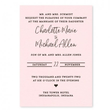 The Heart of the Matter Wedding Invitations SAMPLE
