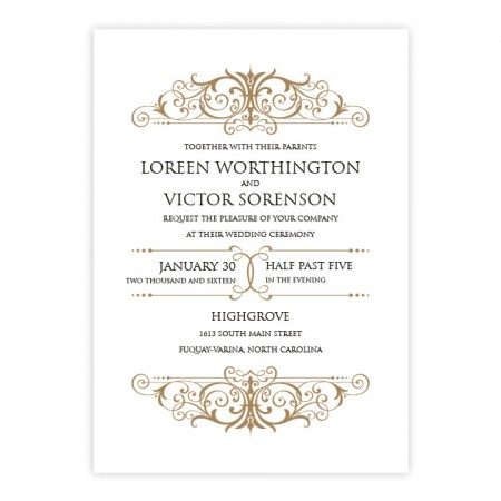 Ava Elegant Wedding Invitations