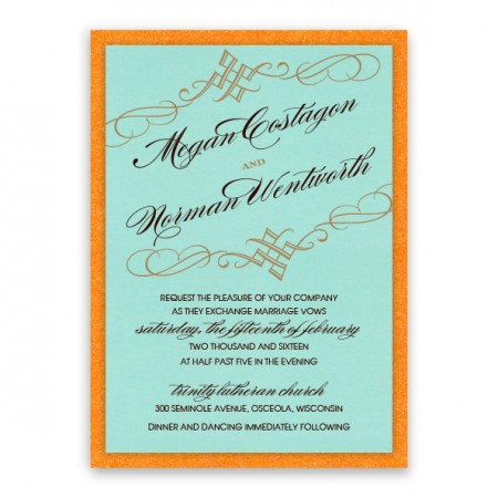 Bailey 2-Layer Thermography Wedding Invitations