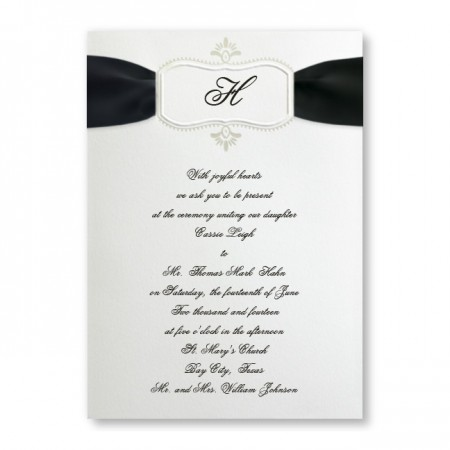 Bali Frame Monogram Wedding Invitations