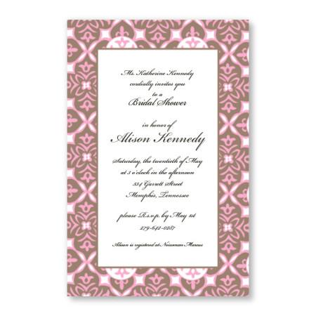 Baroque Pink Invitations
