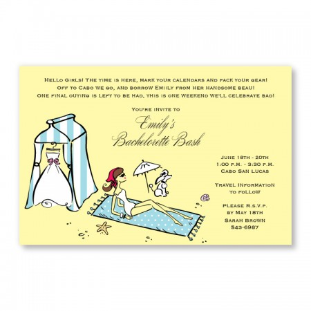 Beach Bride Invitations