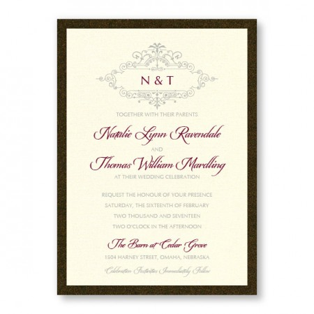 Belle 2-Layer Wedding Invitations SAMPLE