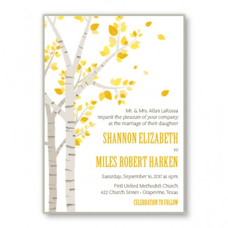 Birch 2-Layer Nature Wedding Invitations