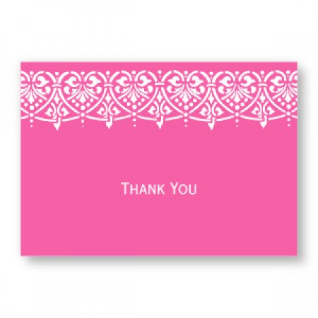 Swag of Hearts Thank You Cards