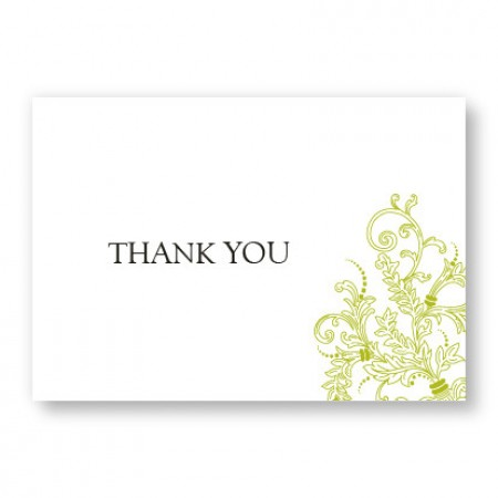 Circle Imprint Thank You Cards