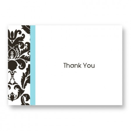 Victoria Damask Thank You Cards