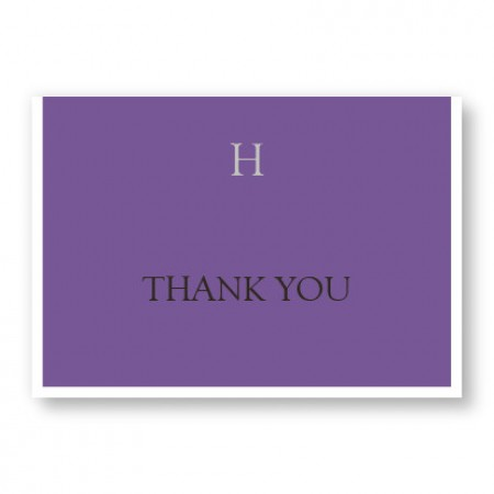 Attractive Initial Thank You Cards
