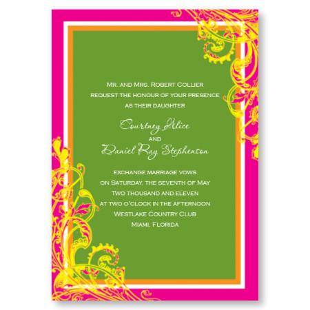 Blissful Pink Wedding Invitations