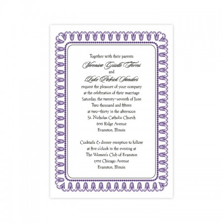 Blooming Border Wedding Invitations