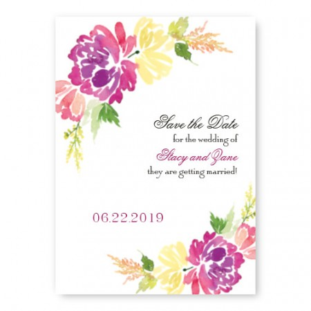 Blossoming Blooms Save The Date Cards