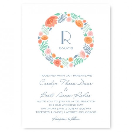 Blossoms Floral Wedding Invitations
