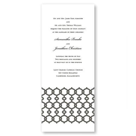 Boulevard Scroll Wedding Invitations