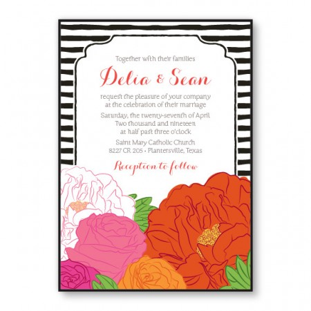 Bouquet 2-Layer Floral Wedding Invitations