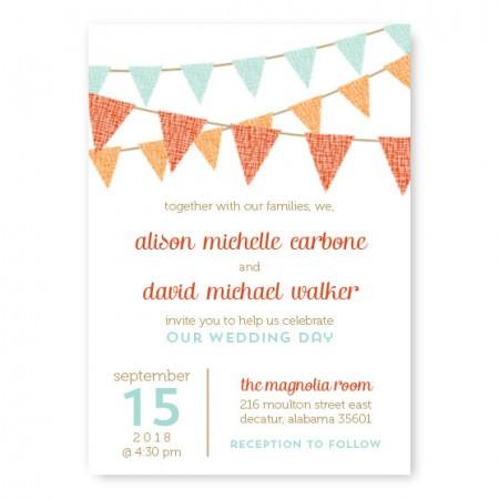 Bunting Custom Wedding Invitations