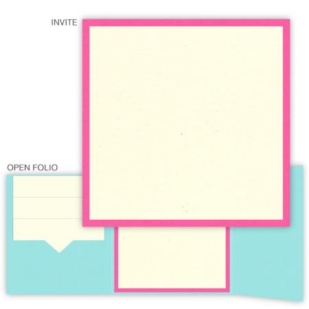 DIY 5 x 5 Gate Folio Pocket Wedding Invitations