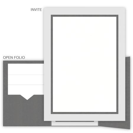 DIY 5 x 7 Gate Folio Pocket Wedding Invitations  - 3 Layers