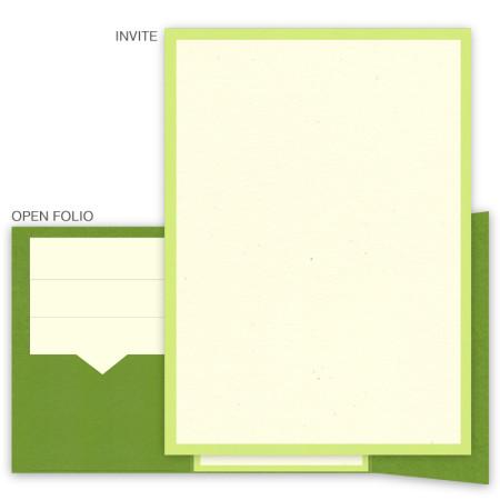 DIY 5 x 7 Gate Folio Pocket Wedding Invitations  - 2 Layers Small Border