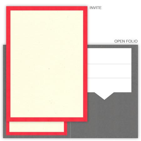 DIY 5 x 7 Single Folio Pocket Wedding Invitations