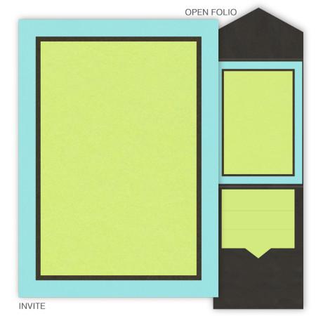 DIY 5 x 7 V-Flap Folio Wedding Invitations - 3 Layers