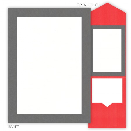 DIY 5 x 7 V-Flap Folio Pocket Wedding Invitations - 2 Layers Large Border
