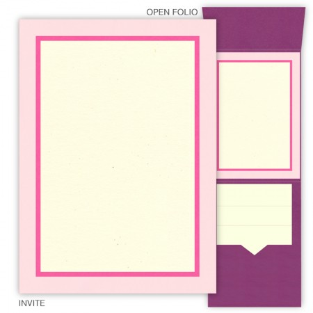DIY 5 x 7 Vertical Folio Wedding Invitations - 3 Layers