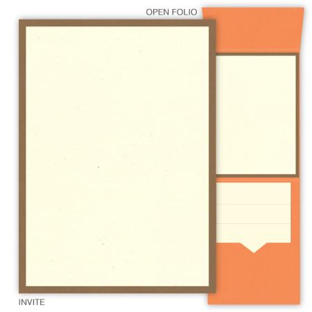 DIY 5 x 7 Vertical Folio Wedding Invitations  - 2 Layers Small Border