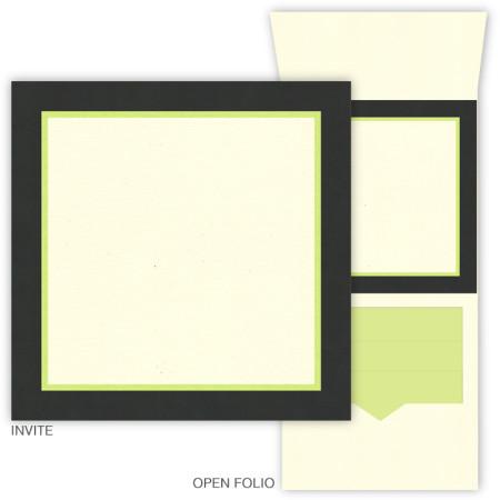 DIY 6 x 6 Vertical Folio Pocket Wedding Invitations - 3 Layers
