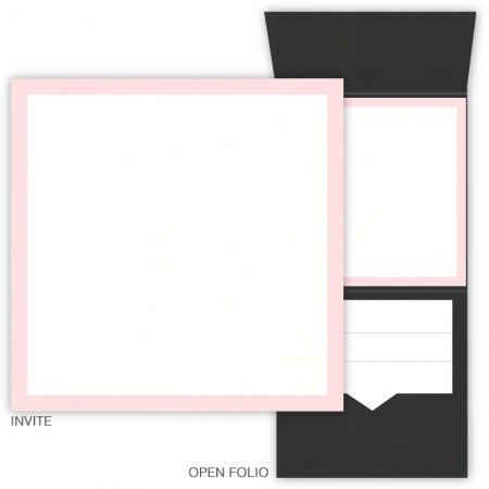 DIY 6 x 6 Vertical Folio Pocket Wedding Invitations - 2 Layers Large Border