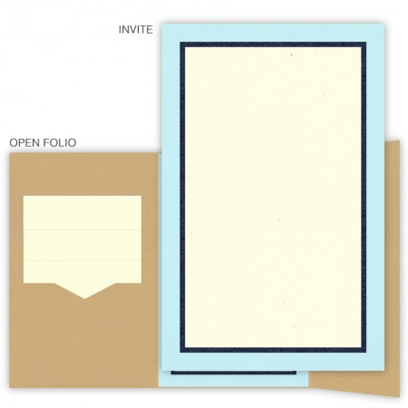 DIY 6 x 9 Gate Folio Wedding Invitations - 3 Layers