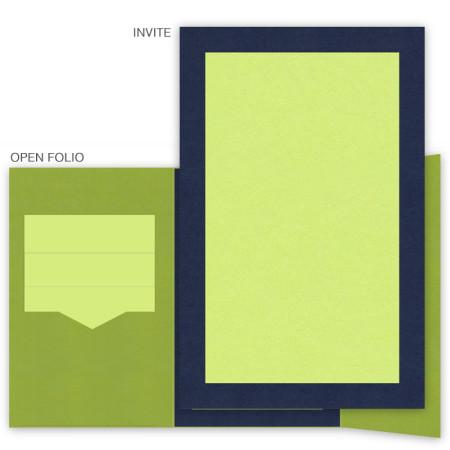DIY 6 x 9 Gate Folio Pocket Wedding Invitations - 2 Layers Large Border