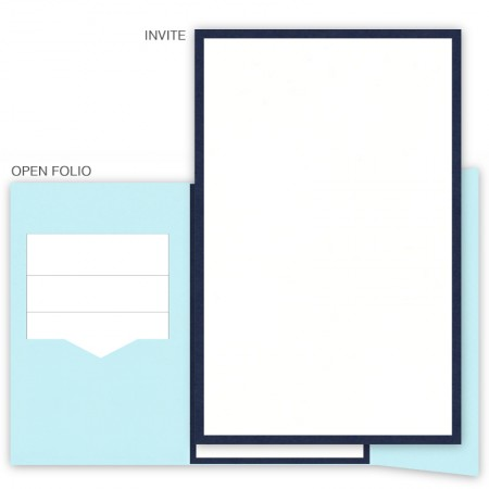 DIY 6 x 9 Gate Folio Pocket Wedding Invitations - 2 Layers Small Border