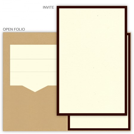 DIY 6 x 9 Single Folio Pocket Wedding Invitations