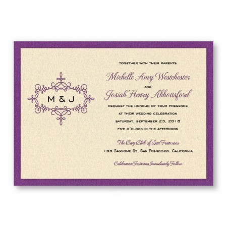 Rosie 2-Layer Wedding Invitations