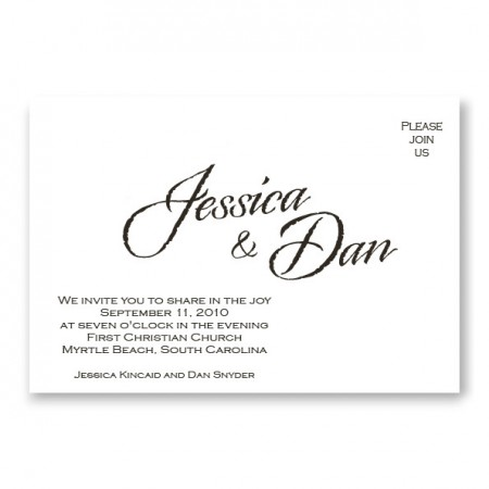 Calligraphy Style Classic Wedding Invitations