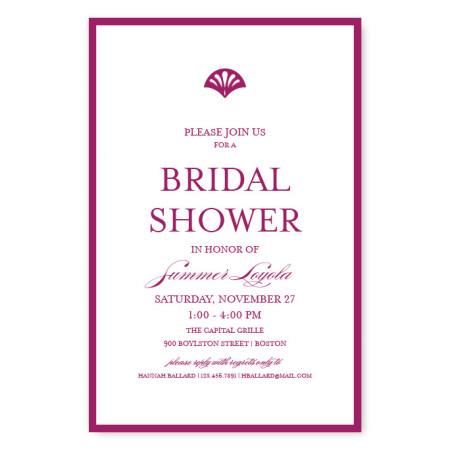 Casablanca Bridal Shower Invitations