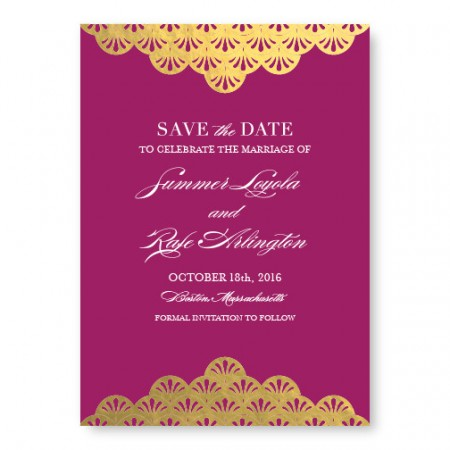 Casablanca Foil Save The Date Cards
