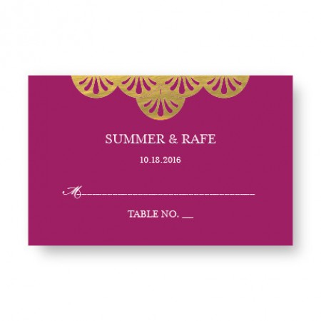 Casablanca Foil Seating Cards