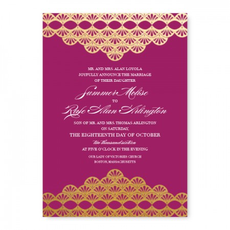 Casablanca Foil Wedding Invitations