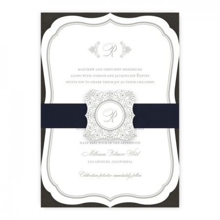 Catherine Monogram Wedding Invitations