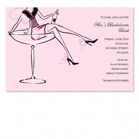 Champagne Girl Invitations